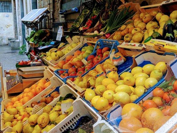 Fruit market or frutta verdure