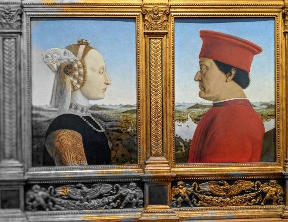 Portraits of the Duke of Urbino and his wife