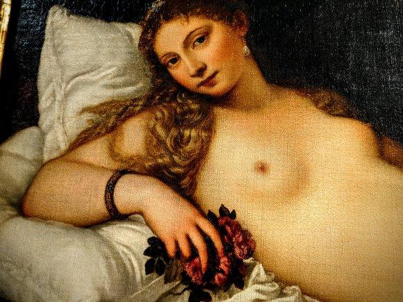 Titian's Venus of Urbino at the Uffizi Gallery, Florence, Italy