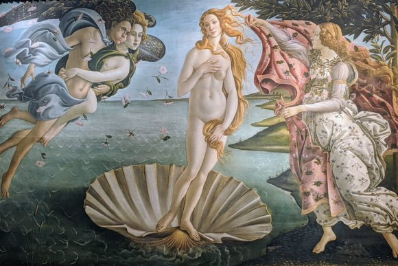 Botticelli's Birth of Venus at the Uffizi Gallery, Florence, Italy