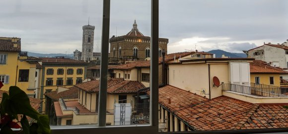 View over Florence from the Hotel della Signoria's breakfast room
