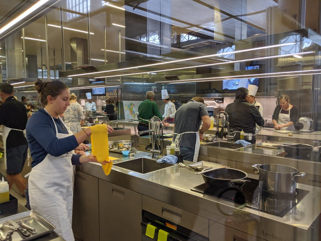 Cooking school at the Mercato Centrale in Florence, Italy on All Saints Day