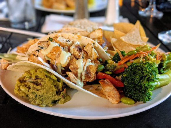 Asian Fish Tacos with Wasabi Aioli at Lonnie's Fusion Cuisine, Lake Mary, Florida