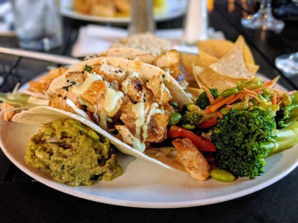 Asian Fish Tacos with Wasabi Aioli at Lonnie's Fusion Cuisine, Lake Mary, Florida