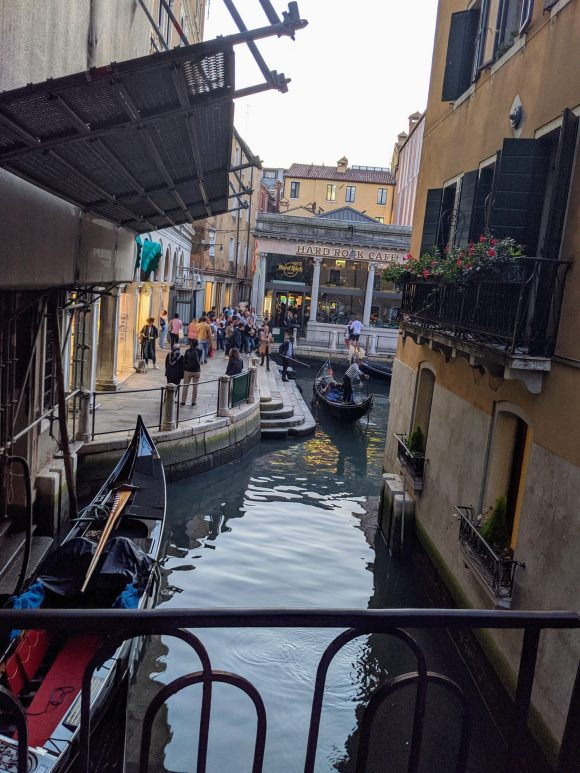As we explored Venice, we found the Hard Rock Cafe, Venice, Italy