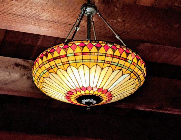 Interesting chandelier at Collage Restaurant, St. Augustine, Florida