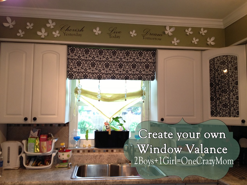 Make Your Own Diy Window Valance In No Time An No Sew