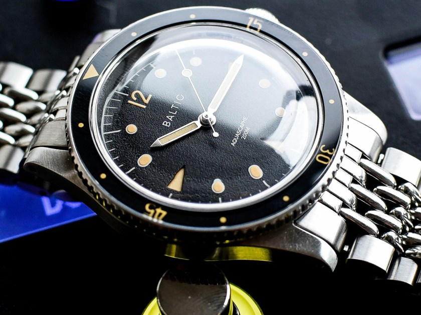 Baltic Aquascaphe dial side view