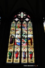 One of the many stain glass windows.