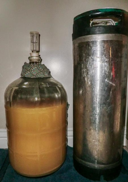 Fermentation carboy and stainless steel cannister