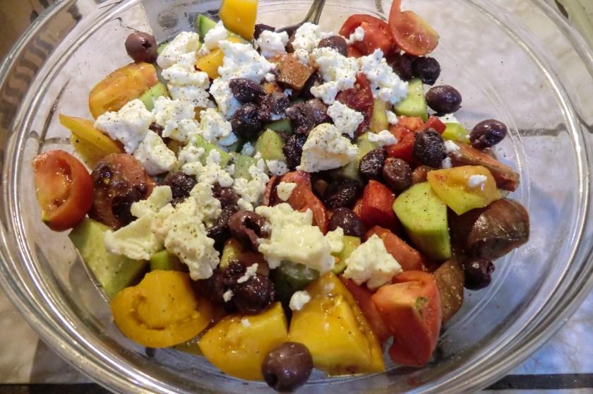 A Greek-style salad