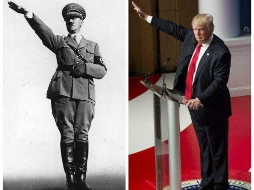 Hitler-Trump-salute-Getty-TOI-collage