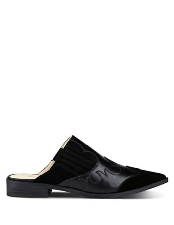 Nine West Sadrah Leather Point Toe Mules, Lord & Taylor | $32 (clearance)