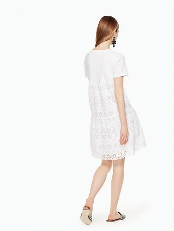 Eyelet Flounce Knit Dress, $248 | Kate Spade