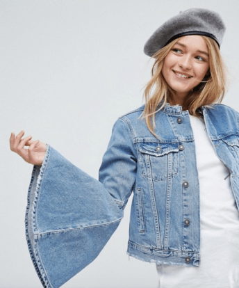ASOS Wool Beret In Gray With Leather Look Bound Edge, ASOS $16