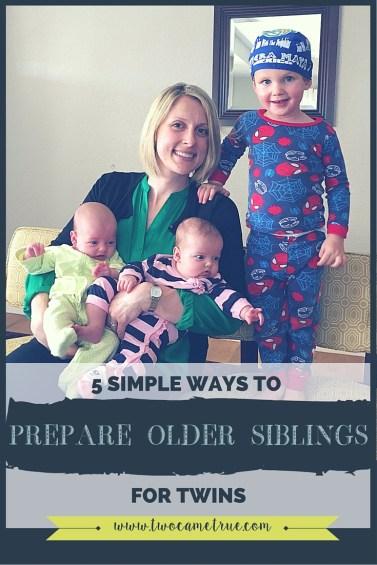 5 simple ways to prepare older siblings for twins