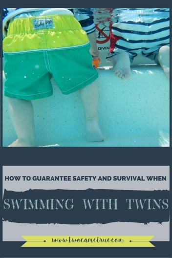 HOW TO GUARANTEE SAFETY WHEN SWIMMING WITH TWINS