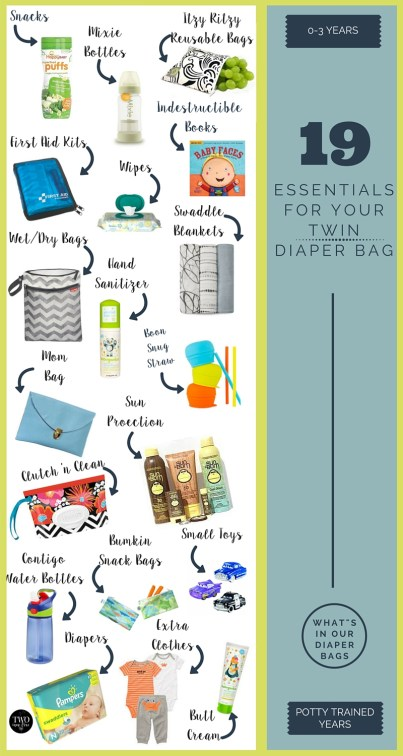 whats in our twin diaper bags