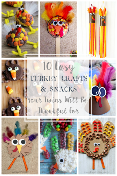 10 easy turkey snacks and crafts your twins will be thankful for