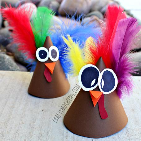 turkey-cone-thanksgiving-craft-for-kids