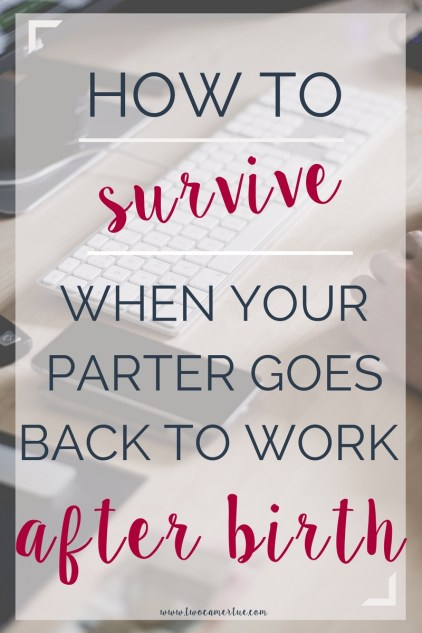 how to survive when your partner goes back to work