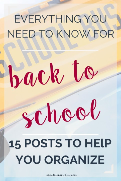everything you need to know for back to school
