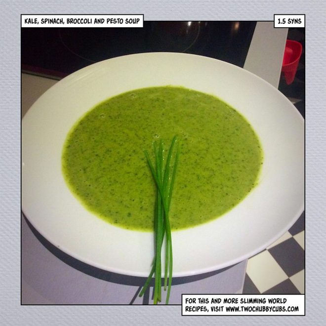 slimming world spinach kale soup