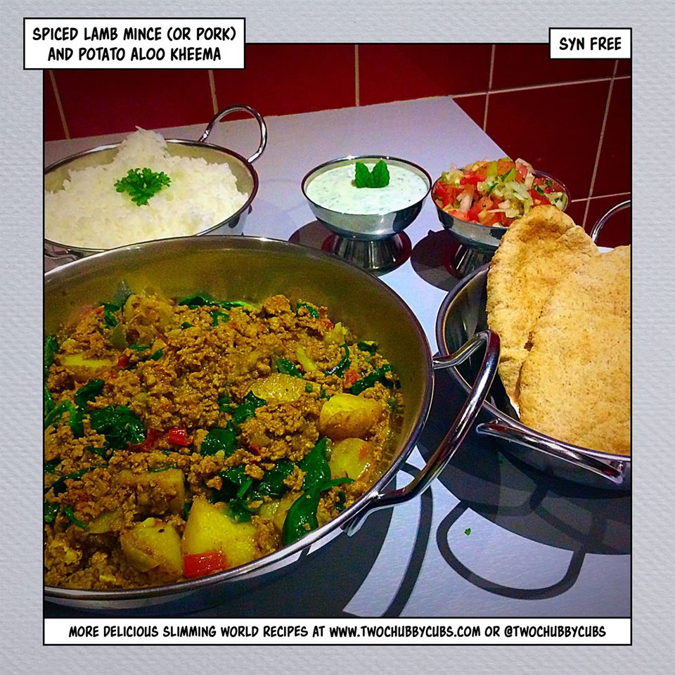 Spiced Lamb Mince And Potato Aloo Kheema Twochubbycubs