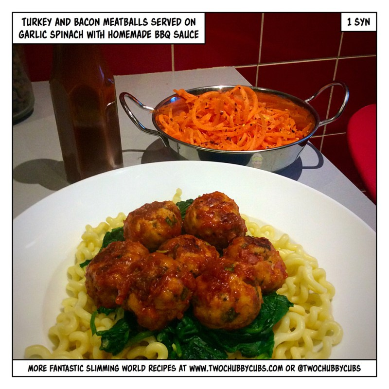 turkey meatballs with bacon
