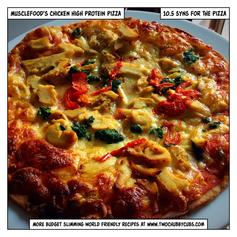 Musclefood chicken pizza