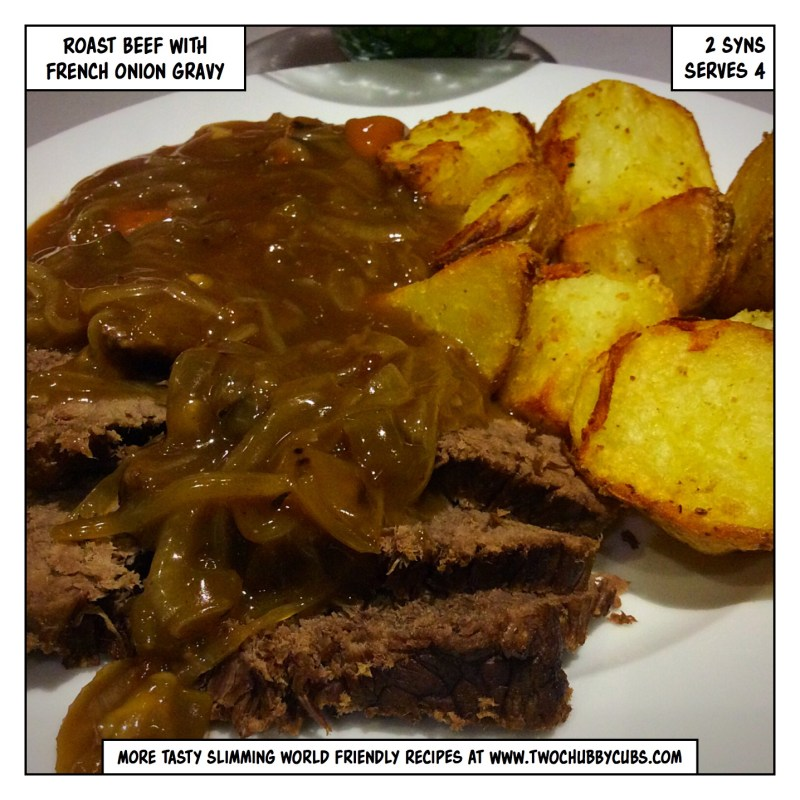 roast beef with french onion gravy