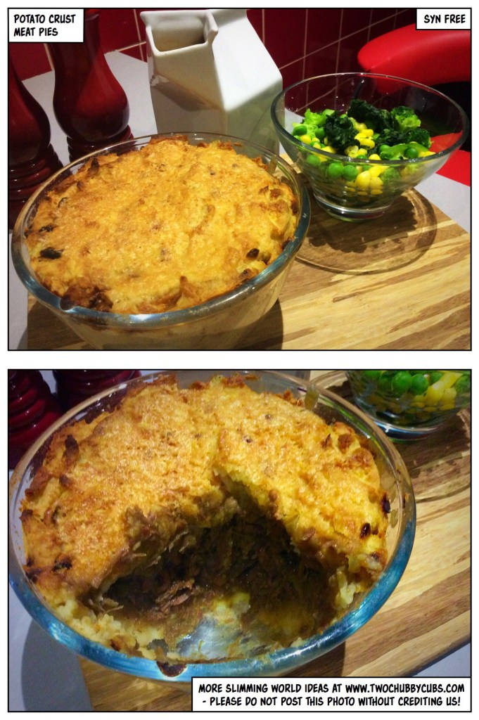 potato crust meat pie