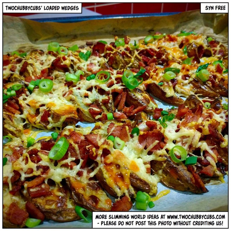 loaded bacon and cheese wedges