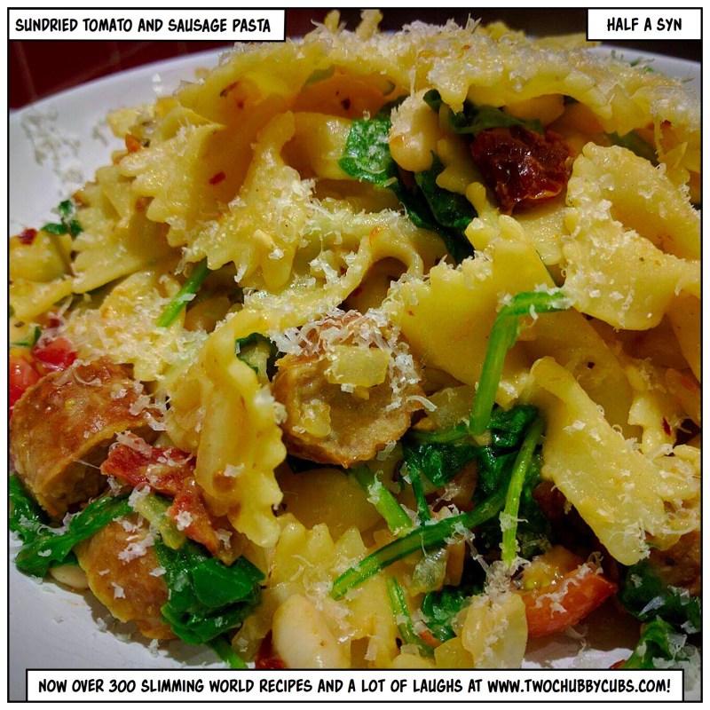 sundried tomato and sausage pasta