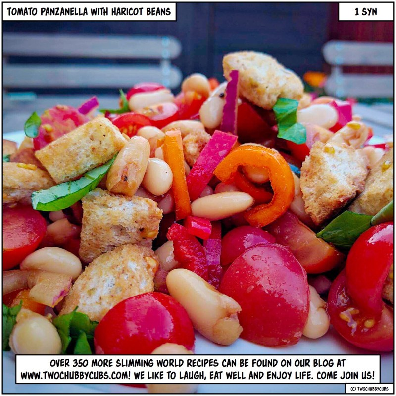 tomato panzanella with haricot beans