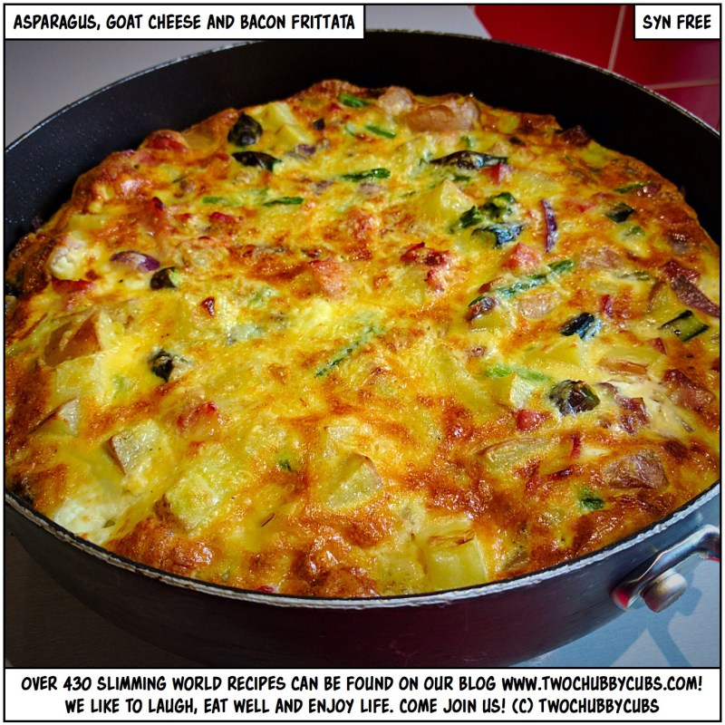 asparagus, goat cheese and bacon frittata