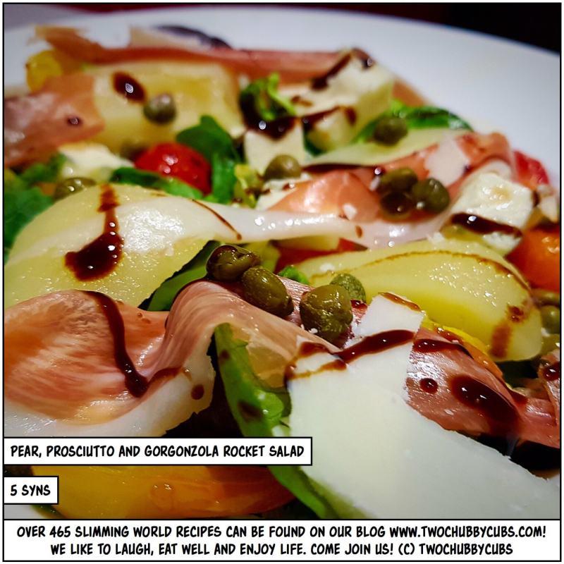 pear prosciutto and gorgonzola rocket salad