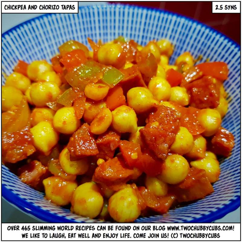 chickpea and chorizo tapas