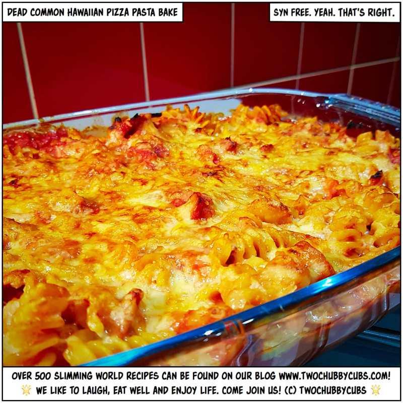 Hawaiian pizza pasta bake