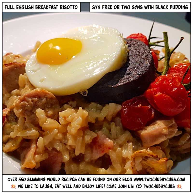 full english breakfast risotto