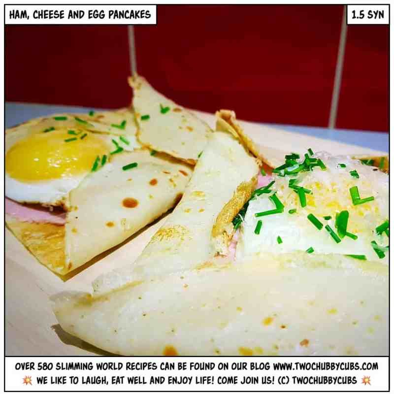 ham, cheese and egg pancakes