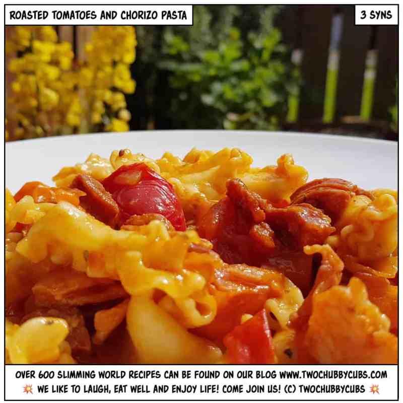 roasted tomato, bacon and chorizo pasta