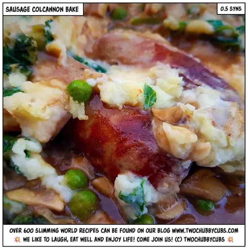 sausage colcannon bake
