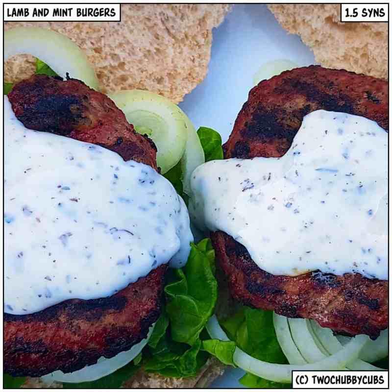 lamb and mint burgers