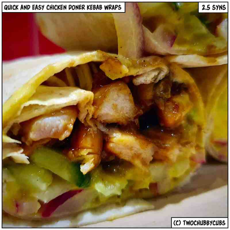 chicken kebab wraps