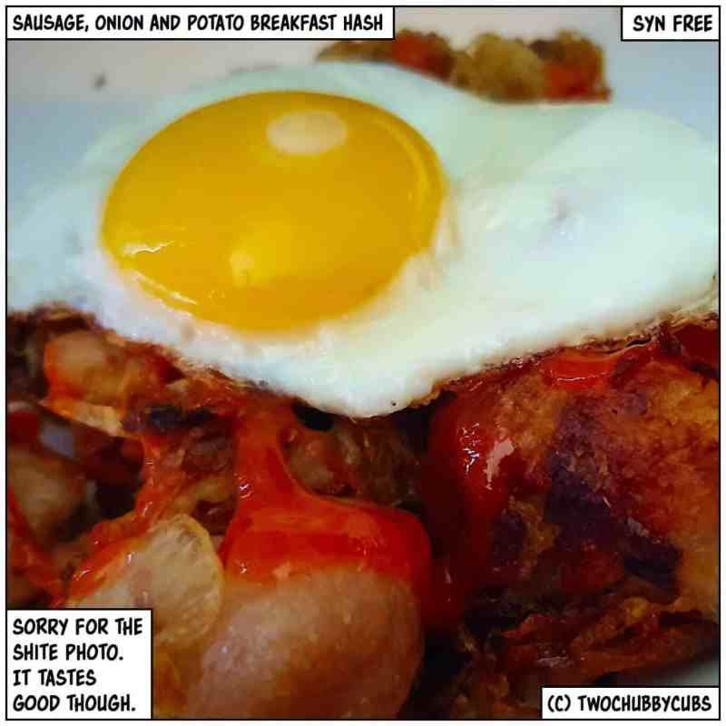 sausage, onion and potato breakfast hash