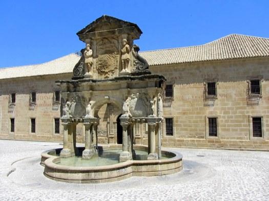 Old fountain in Baeza