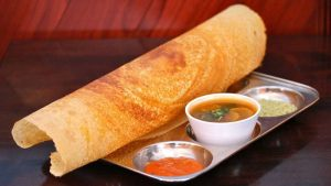 paper dosa with side dishes