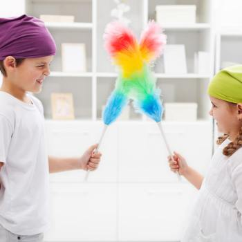 Keep a clean home with little children