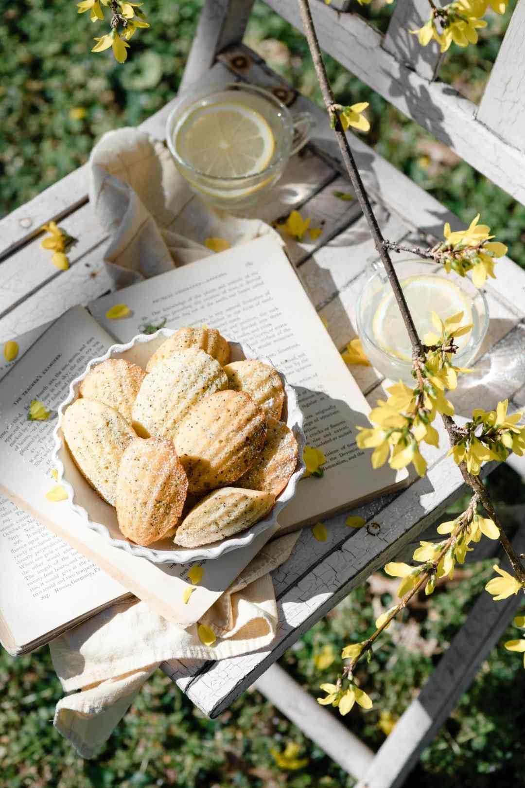 Recipe for Lemon Madeleines with poppyseeds.